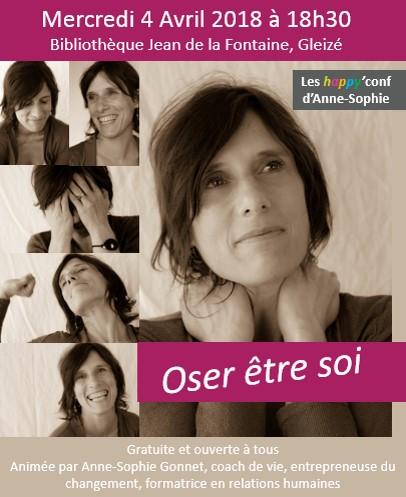 Anne-Sophie Gonnet - Happyconf Oser être soi - Avril 2018